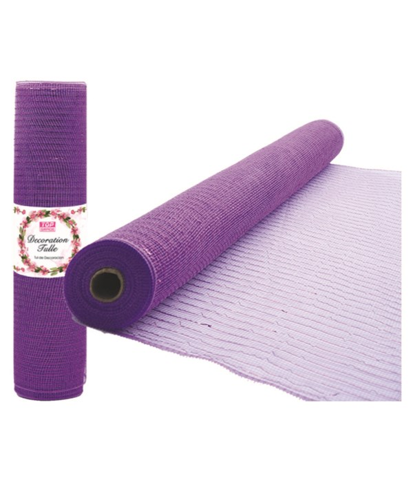 tulle fabric roll laven 12/72s