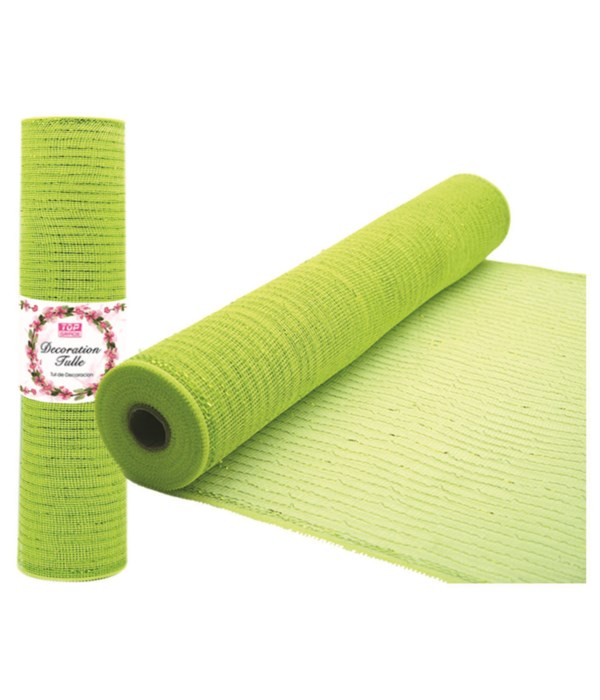 tulle fabric roll lime 12/72