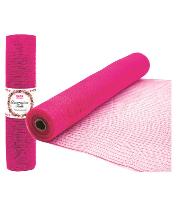 tulle fabric roll bb-pink12/72