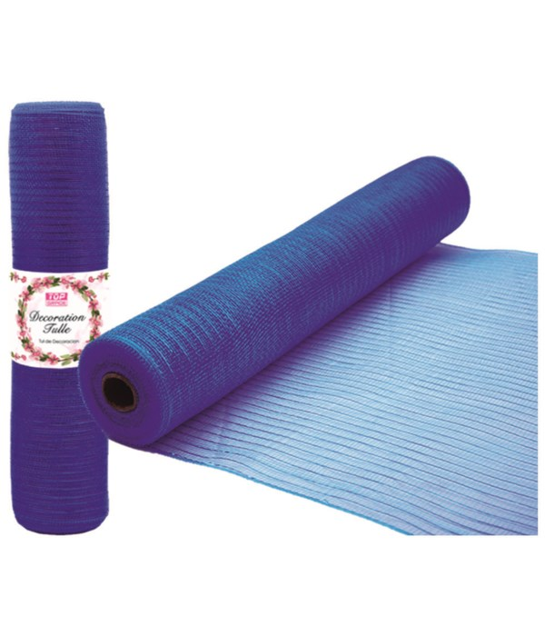 tulle fabric roll d-blue 12/72