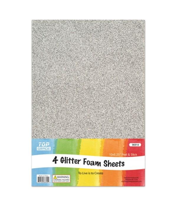 EVA glitter sheet silver 12/72