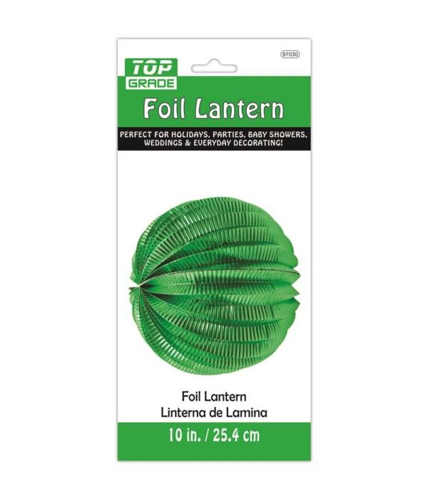 """10"""" foil lantern green 12/240"""
