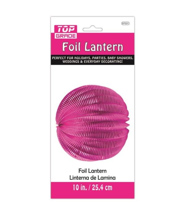 """10"""" foil lantern fushia 12/240"""
