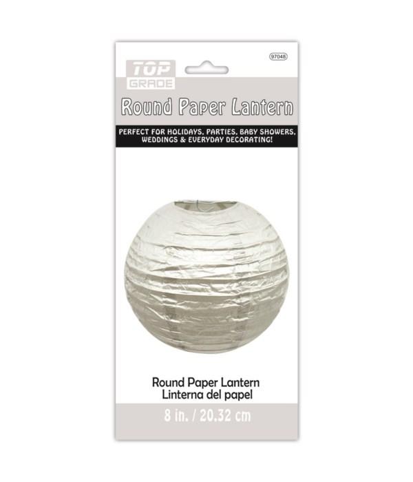 """9""""paper lantern silver 12/144s"""