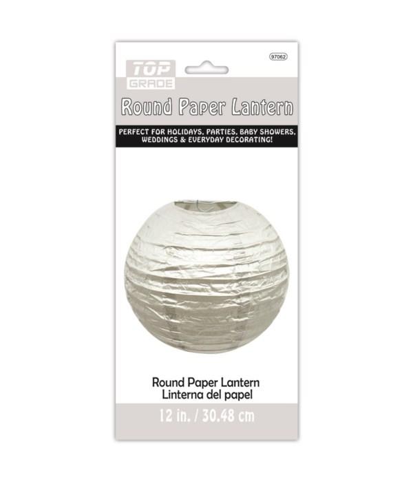 """12""""paper lantern silver 12/144"""