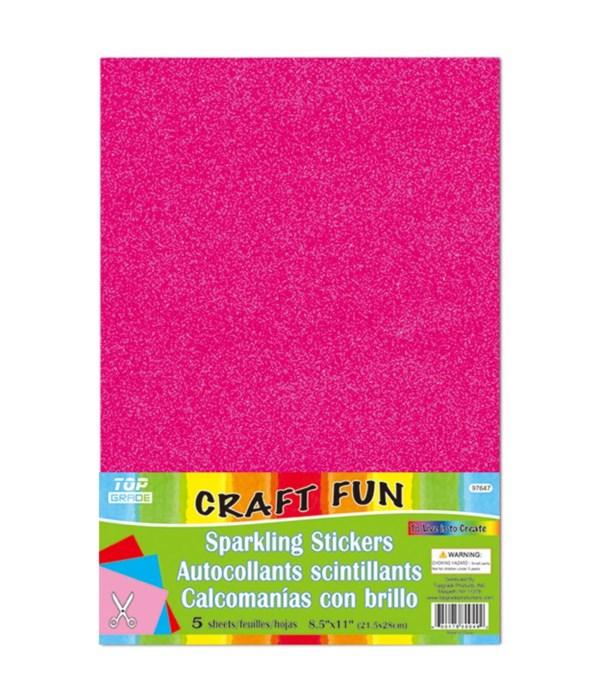sparkling sticker hot pink