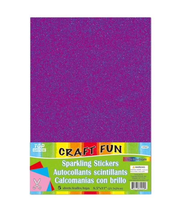 sparkling sticker purple