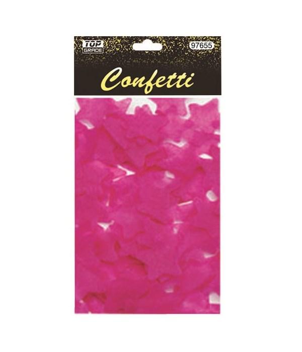 15g star confetti H.pink12/432