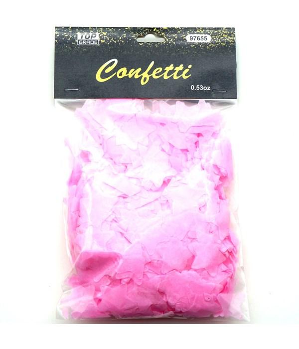 15g star confetti L.pink12/432