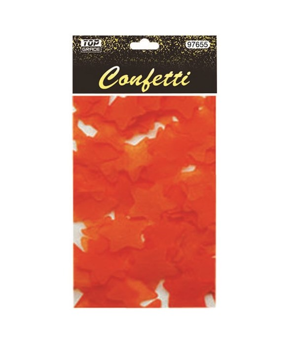 15g star confetti orange12/432