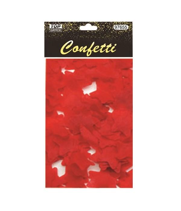 15g star confetti red 12/432s