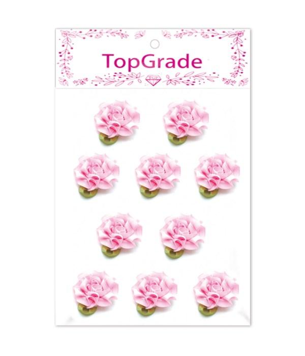satin flowes pink 10pc 12/600