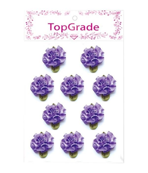 satin flowes purple 12/600