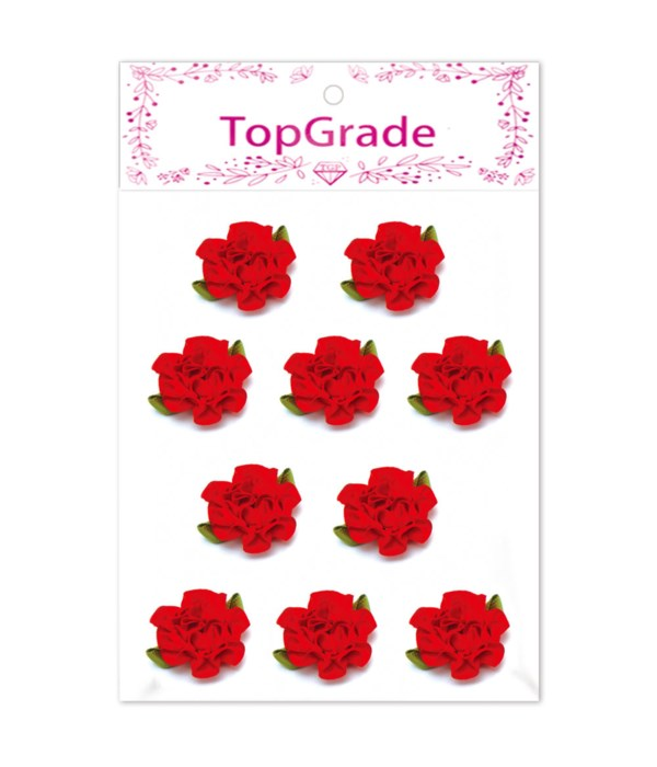 satin flowes red 10pc 12/600s