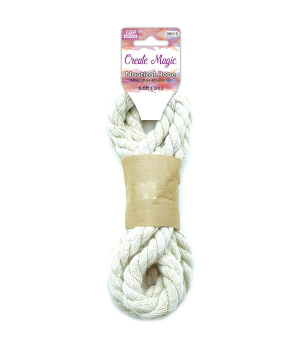 6.6ft/#6 cotton rope 12/600s