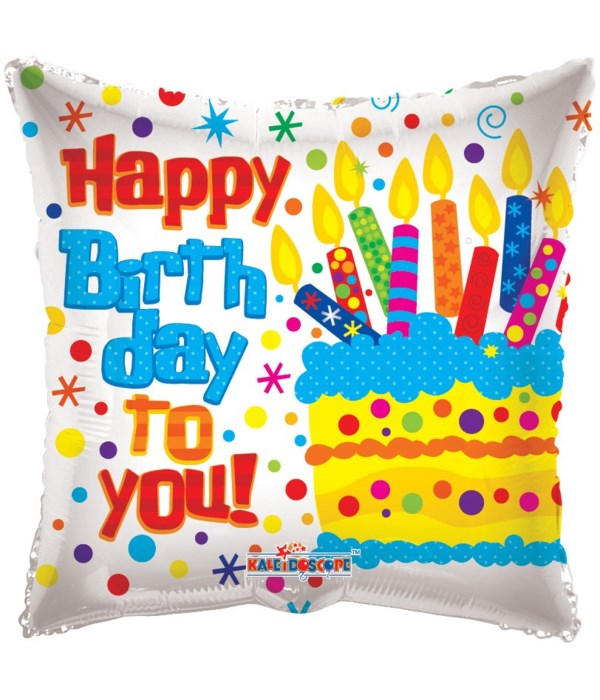 "1-side ""HB"" cake balloon 25's"