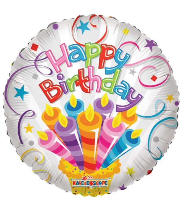 """1-side """"HB"""" candle balloon 25s"""