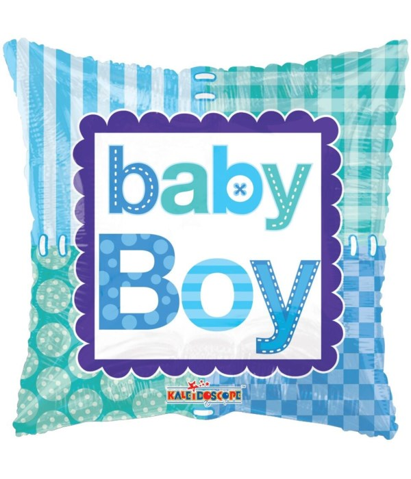 "1-side ""baby boy"" balloon 25's"