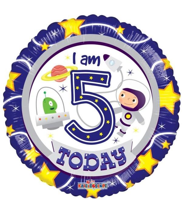 """2-side """"Happy 5th Birthday"""""""