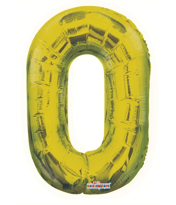 """34"""" number balloon gold #0 5s"""