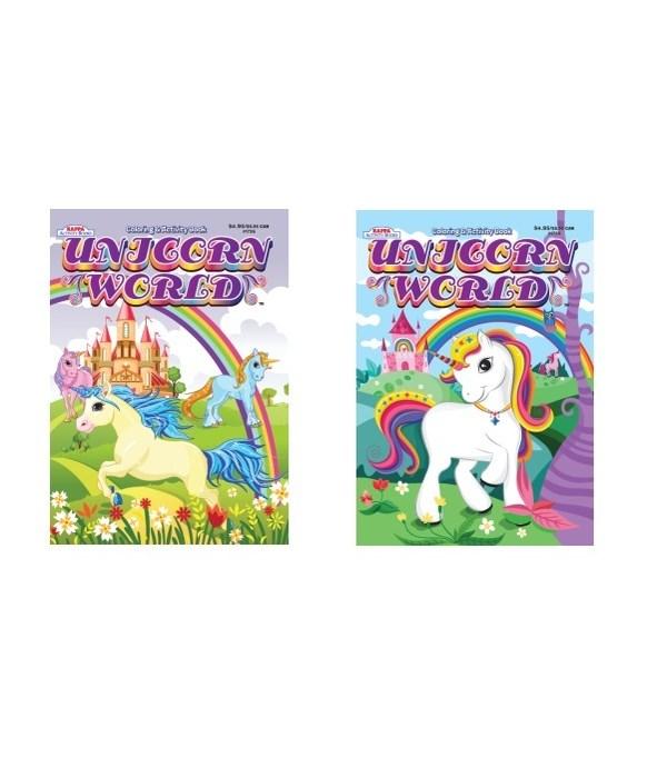 unicorn world coloring book 80