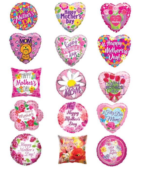 """18"""" mother's day balloons 25s"""