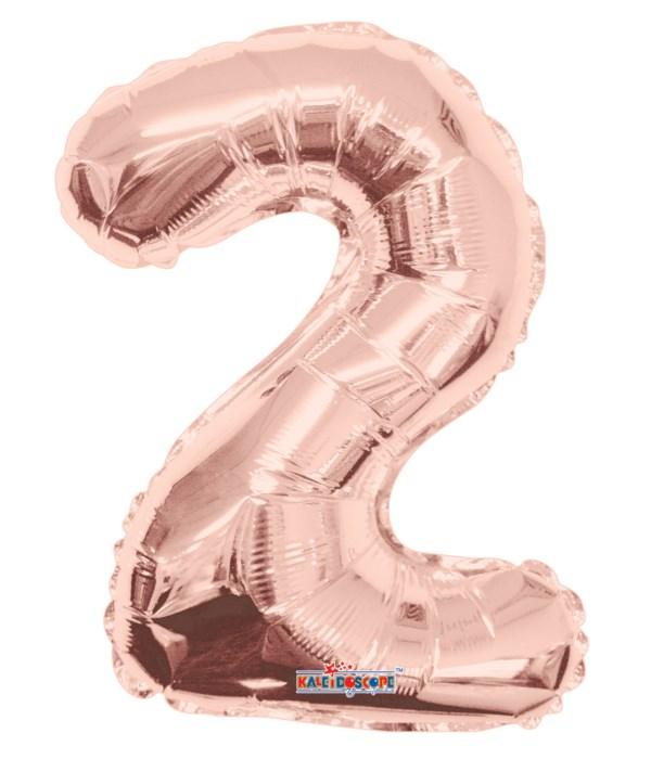 "34"" Foil Balloon #2 rose gold"