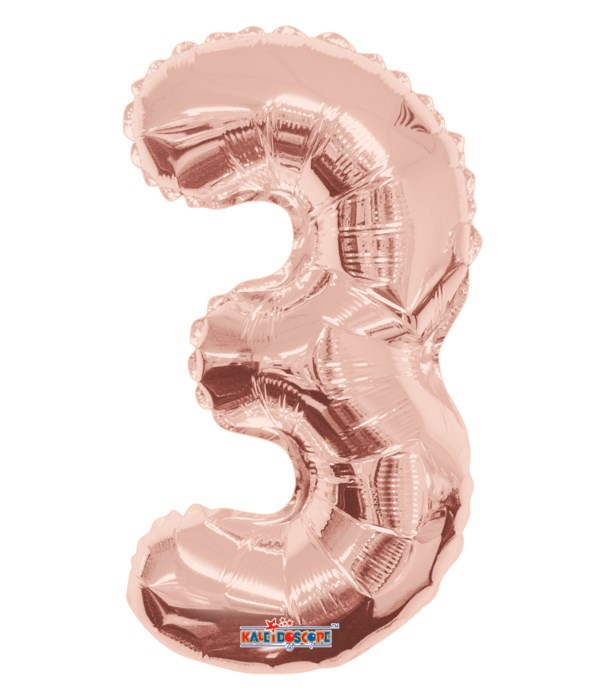 "34"" Foil Balloon #3 rose gold"
