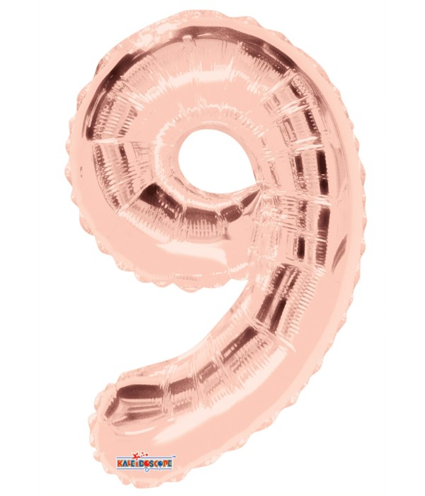 "34"" Foil Balloon #9 rose gold"