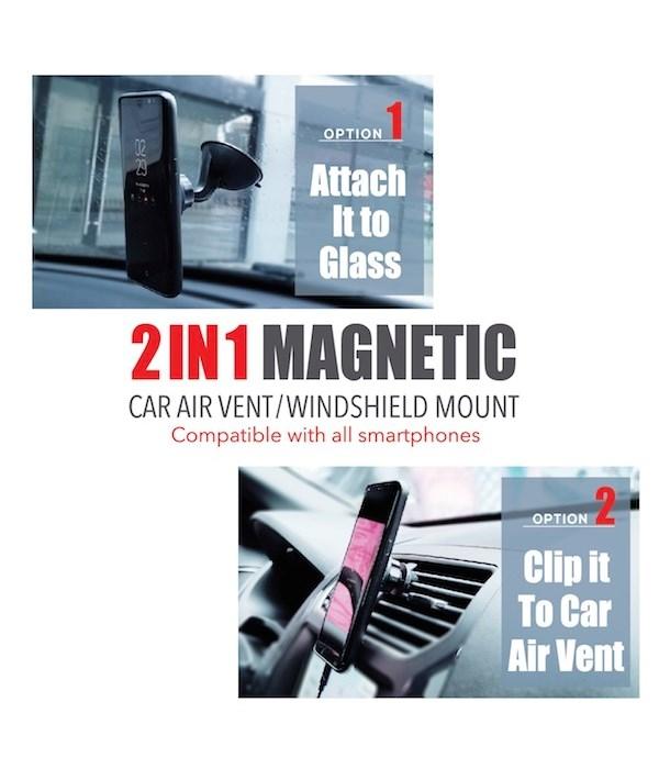 2 in 1 magnetic car air vent