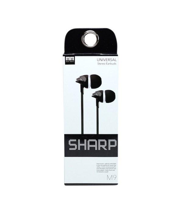 M9 sharp earbud headphones 10s