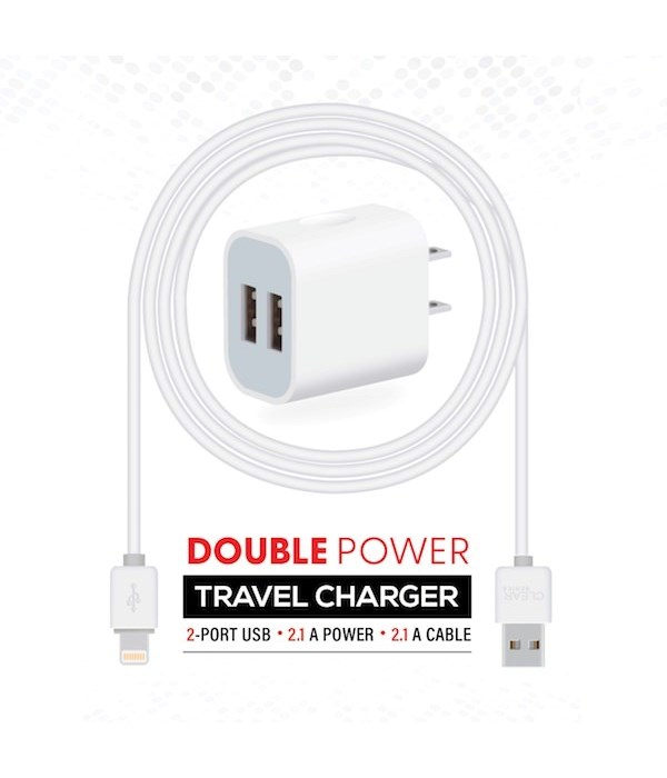 Travel charger 2A for iphone