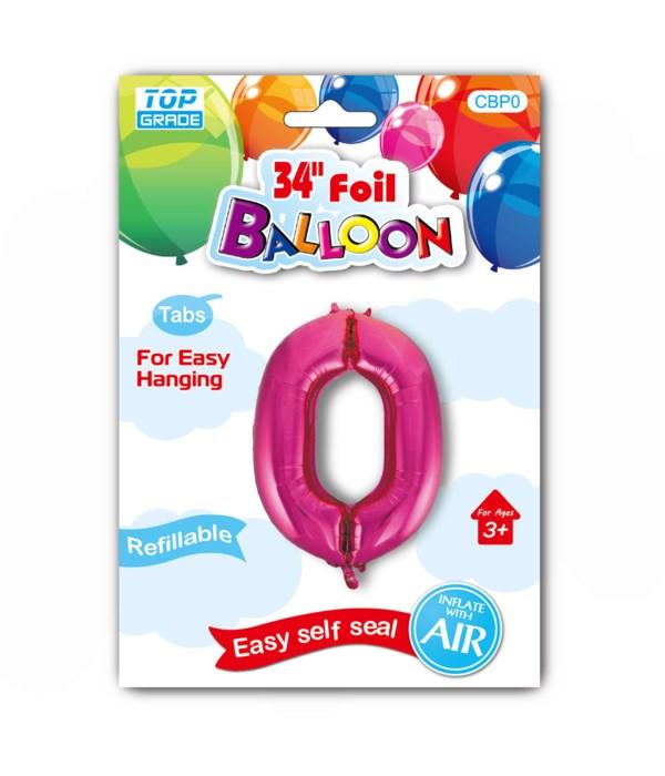 "34"" number balloon H.Pink #0"