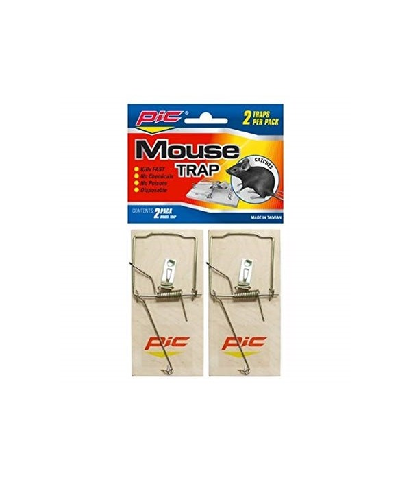 PIC 2pc Mouse wood trap 24s