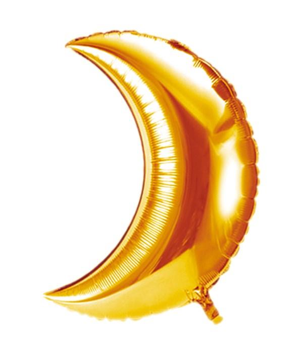 half moon balloon gold 10/1000