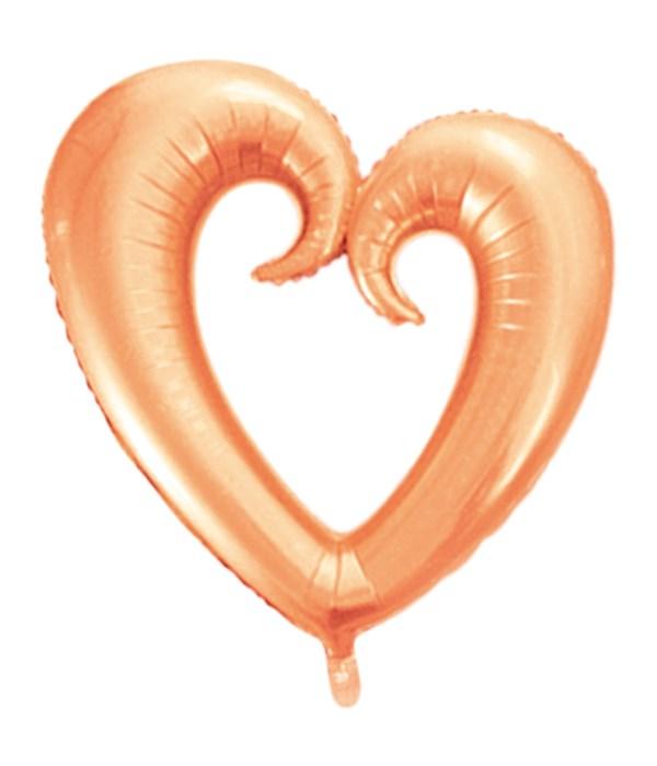 hollow heart balloon 10/500s