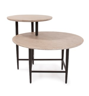 Duo Height Round Coffee Table