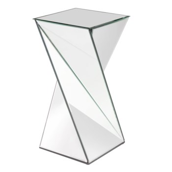 Twisted Mirrored Side Table