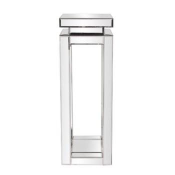 Mirrored Pedestal Table - tall