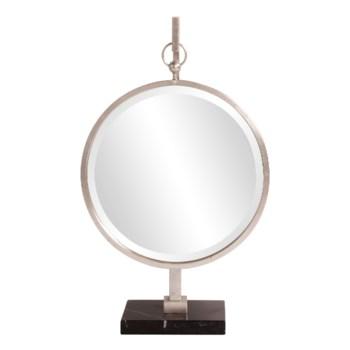 Medallion Silver Mirror