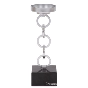 Silver Link Candlestick