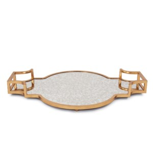 High Society Antiqued Gold Tray