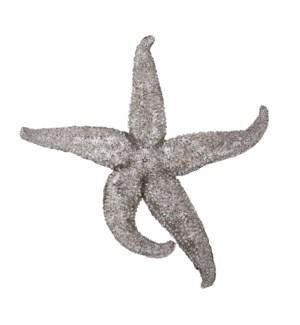 Deep Pewter Starfish - medium
