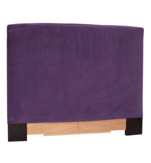 Twin Headboard Slipcover Bella Eggplant (Cover Only)
