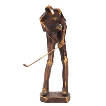 Bronze Putting Golf Player
