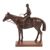 Bronze Jockey and Racehorse Sculpture