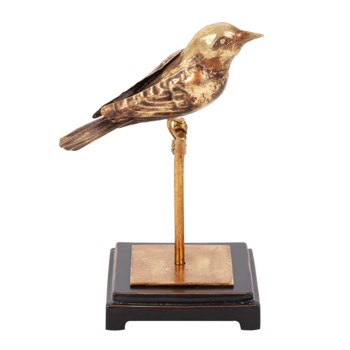 Antique Gold Finch on Perch, Small