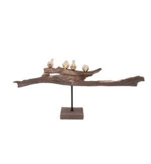 Perched Birds Statue