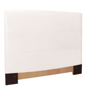 King Headboard Slipcover Avanti White (Cover Only)