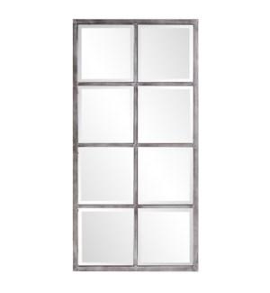 Atrium Silver Windowpane Mirror